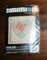 "Textured Heart Dimensions Needlepoint 5"" x 5"" Complete"