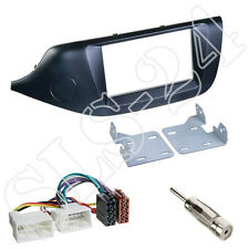 KIA cee´d JD ab2012 Doppel-DIN Blende schwarz +ISO Radioadapter Antenne Stecker