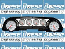 63-64 Ford Galaxie Aluminum Dash Insert Panel w/ Auto Meter Arctic White Gauges
