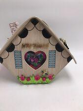 $88 Betsey Johnson Kitsch Birdhouse Crossbody Bag Home Tweet Home S1