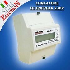 CONTATORE DI ENERGIA ELETTRICA 230V 10(100)A MONOFASE LCD PRO-75D MISURATORE KWh