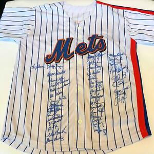 1969 & 1986 NY Mets World Series Champs Team Signed Jersey 41 Sig Tom Seaver PSA