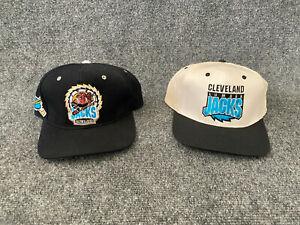 Cleveland Lumberjacks Hats 2 IHL Hockey Snapback Caps Black And White