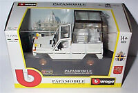 Mercedes benz 230 GE PAPAMOBILE (POPE) 1-43 Scale  New in box burago 31018