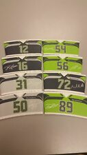 NEW LOT OF 8 STARBUCKS COFFEE SEATTLE SEAHAWKS CUP SLEEVES 2017 Complete Set 3