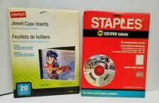 Cd Dvd Labels Partial Pack 100 Labels Staples And 20 Jewel Case Inserts