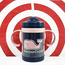 Vineyard Vines for Target 9oz Sippy Cup Baby Pink Navy Whale Exclusive In Hand