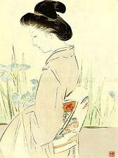 CULTURAL JAPAN GEISHA KAJITA HANKO LADY WOMAN POSTER ART PRINT PICTURE BB722A