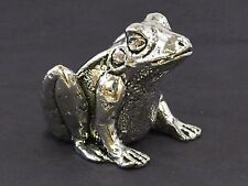 Frog English Pewter Pin Cushion by A E Williams Birmingham UK Boxed