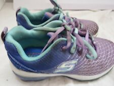 Skechers Girl Sneaker Lace Tennis Running Athletic Sports Shoes Purple Blue 11.5
