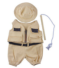 "Fisherman w/Hat n Pole Outfit Teddy Bear Clothes Fit 14""-18"" Build-A-Bear n More"