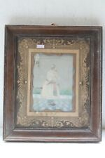 ANTIQUE MINIATURE PAINTING MUGHAL FAT KING  FINE COLLECTIBLE PORTRAIT NH5081