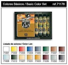 VAL71178  Model Air Set - Basic Colors (x16)