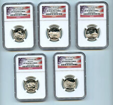 2006 S Silver5  State Quarter Set NGC PF70 UCAM Proof Coin 25 C Flag
