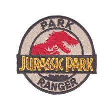 Jurassic Park Ranger Iron On Patch Cosplay Fancy Dress Dinosaur Geek Geeky Bagde