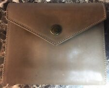 """Levenger Wallet Soft Leather Taupe 5.75""""x5"""" Pocketbook card organizer money hold"""