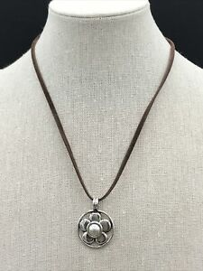 Barse Taxco Flower Necklace-Mother Of Pearl-Sterling Silver-NWT