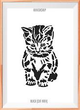 Cat Mylar Reusable Stencil Airbrush Painting Art Craft DIY Home Decor & more