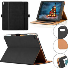For Apple iPad Pro 9.7 Magnetic TAN Leather Folding Black Smart Stand Case Cover