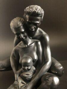 Home Decor Family Statue  Figurine Sculpture