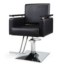 Classic Barber Chair Hydraulic 360 Rolling Swivel Hair Salon Spa Equipment,Black