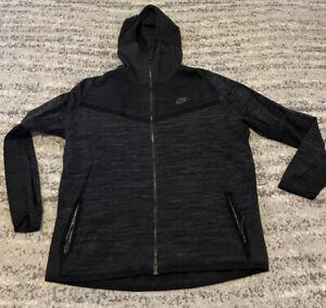 Nike Tech Black Windrunner Knit Jacket Hoodie Xl 728685-010