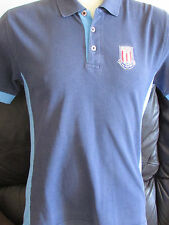 Stoke City - Blue Polo Shirt - Small - Crest