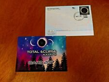 Aug 2017 Total Solar Eclipse Idaho, Garden Valley Hand Canceled Postcard Trees