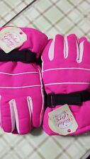 2 Pairs Faded Glory Solid Snow Gloves Children Size S-m Fuchsia With Tag