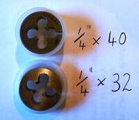 "HSS STUART TURNER & OTHER MODEL LIVE STEAM ENGINE, 1/4"" x 40 tpi HSS DIE , NEW"