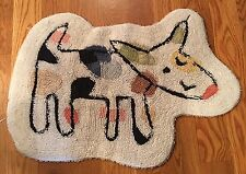 Jenny Faw Colorful Dog Shaped Cats and Dogs Bathroom Rug Kids