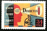 2001 Scott #3503 34¢ - DIABETES AWARENESS - Single Stamp - Mint NH