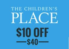 Three (3) Children's Place Coupon $10 off $40 Exp 4/30/2019 SAME DAY DELIVERY