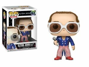 RARE Elton John 63 Red White Blue FUNKO POP VINYL New in Mint Box + P/P