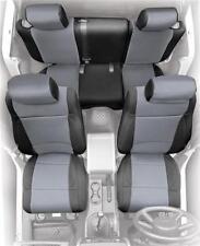 Jeep Wrangler JK Front and Rear Neoprene Seat Covers Gray 08-12 4 Door 471722