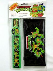 Vintage School Kit Ninja Turtle 1er Generation Gnarly Pack School Tmnt New