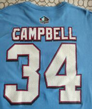 EARL CAMPBELL Throwback Houston OILERS 34 Hall of Fame T-Shirt NFL HOF XL jersey