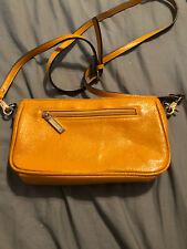 Zenith Handbags Mustard Yellow Patent Leather Handbag/clutch EUC