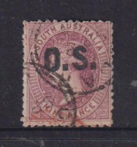 South Australia 1874-85 9d Purple O/P OS used, without any faults.