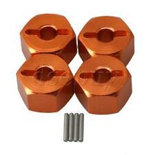 4PCS Al. Wheel Hex.Mount 14x9mm RC1:10 for HPI/ BULLET3.0 Largefoot Orange