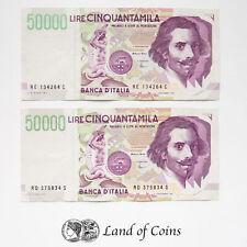 ITALY: 2 x 50,000 Italian Lira Banknotes.