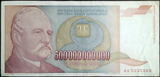 Yugoslavia banknote - 500 billion dinars - year 1993 - hyperinflation - J.J.Zmaj