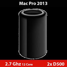 Mac Pro Late 2013 | 2.7GHz 12-Core | Dual AMD D500 | 64GB RAM | 512GB Flash