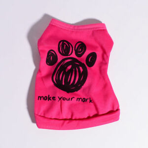 FEMALE GIRL DOG CLOTHES For Extra Small to Medium Size Dog T Shirt for Maltese