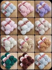 Velvet Soft Fluffy Chunky Chenille yarn, Yarnart  Chenille knitting yarn 100g