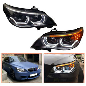 For BMW 5 Series E60 Headlamps 08-10 HID Projector LED DRL Replace OEM Headlight