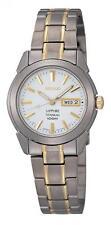 Seiko Titanium Strap Casual Wristwatches