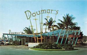 Ft. Lauderdale FL Doumar's Drive-In Restaurant Old Cars Postcard