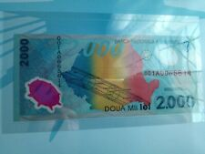 ROMANIA - 2000 LEI 1999 POLYMER - IN FOLDER - SERIAL NUMBER 001A0065614
