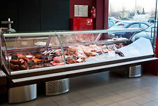 Serve Over Counter Curved 2.5m long Display Fridge Meat Chiller top model
